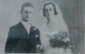Eckstein-Lezer, trouwfoto Comprecht Eckstein en Rosetta Lezer, 25-08-1933