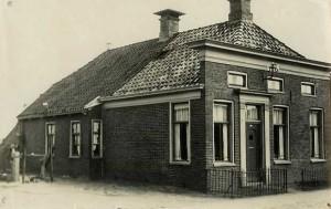 Het huis aan de Kerkstraat in Muntendam waar de familie Valk woonde